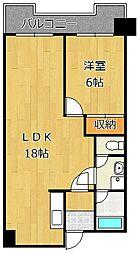 レジデンス鋲賀[2階]の間取り