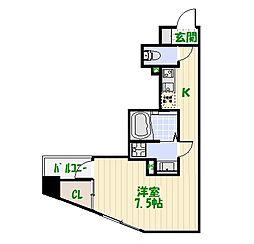 プレールドゥ—ク東京EAST[0802号室]の間取り