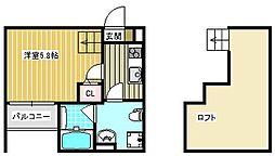 安立荘[2階]の間取り