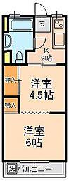 松戸パレス[1010号室]の間取り