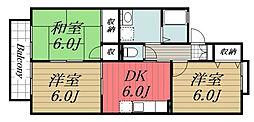 千葉県千葉市若葉区みつわ台1丁目の賃貸アパートの間取り