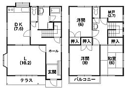 [一戸建] 静岡県浜松市中区布橋1丁目 の賃貸【/】の間取り