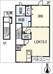 コンフォート南鶉II[2階]の間取り