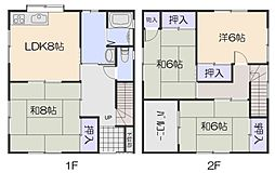 [一戸建] 広島県広島市安佐南区中筋2丁目 の賃貸【/】の間取り