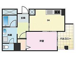 新神戸都マンション[503号室]の間取り
