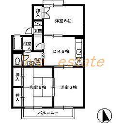 セジュール円座 A棟[2階]の間取り
