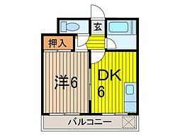 津川コーポ[2階]の間取り