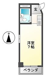 アートイン[6階]の間取り