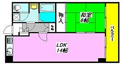 クオリティ・小阪 605号室[6階]の間取り