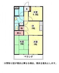 愛知県一宮市花池4丁目の賃貸アパートの間取り