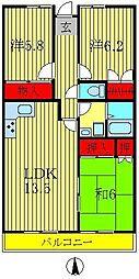 ロイヤルパレス天王台[4階]の間取り