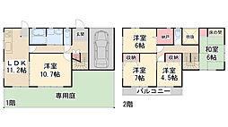 [一戸建] 兵庫県川西市萩原台西1丁目 の賃貸【/】の間取り