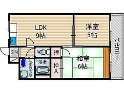 オークマンション[1階]の間取り