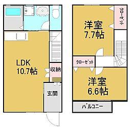 [タウンハウス] 愛知県名古屋市緑区緑花台 の賃貸【/】の間取り