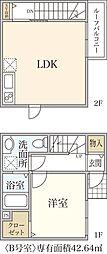 新築T&T Matsugae[B号室]の間取り