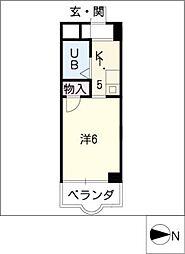クレールショウワII[4階]の間取り