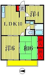エステートピア吉井町[2階]の間取り