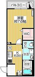 カタクラマンション3[206号室]の間取り