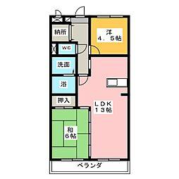 エトワール三郷[2階]の間取り