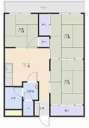 ピロ小倉II[4階]の間取り