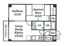 ソシアルコートk3.4[2階]の間取り