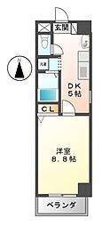 ソレアード関戸[6階]の間取り
