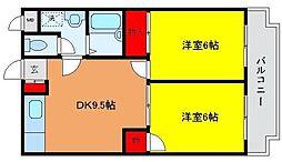 パストラルマンションMII[A403号室]の間取り