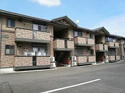 栃木県小山市大字雨ケ谷の賃貸アパートの外観