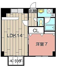 アビタシオン・ドゥ[402号室]の間取り
