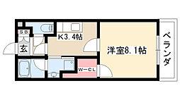 愛知県名古屋市緑区定納山1丁目の賃貸マンションの間取り