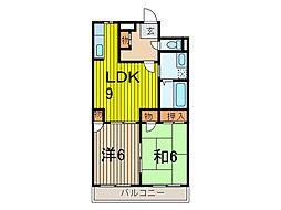 第8渡辺レジデンス[2階]の間取り