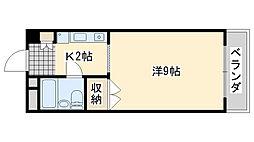 アビヨンKAB1[702号室]の間取り