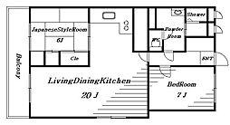 DIKマンション[9階]の間取り