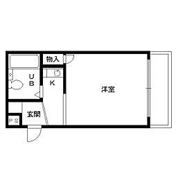 大阪府堺市堺区三宝町2丁の賃貸マンションの間取り