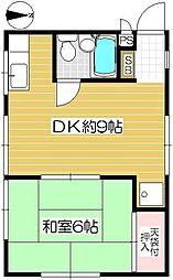 小川コンビニアム 1階1LDKの間取り
