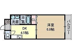 ラ・ドルチェ[1階]の間取り