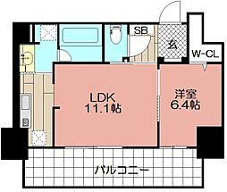 (仮)博多駅東3丁目プロジェクト[706号室]の間取り