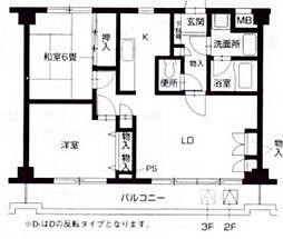 レジデンスヨコハマ[202号室]の間取り