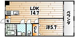 フェルト730II[4階]の間取り