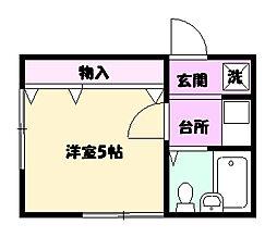 メゾン藤田[201号室]の間取り