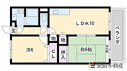 レジデンス原田[702号室]の間取り