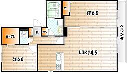エクレール グランデ B棟[3階]の間取り