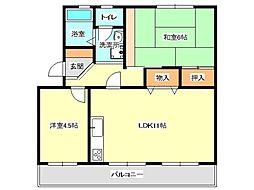 兵庫県神戸市垂水区本多聞5丁目の賃貸マンションの間取り
