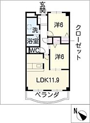 TOGETHER ITO館[3階]の間取り