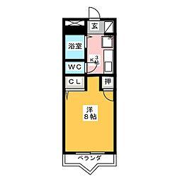 リバストーン[2階]の間取り