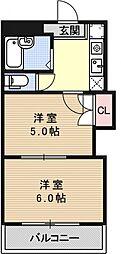 プリマベーラ西京極[406号室号室]の間取り