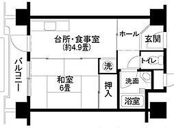 花山東団地26号室[1101号室]の間取り