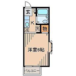 レノアール東横[201号室]の間取り