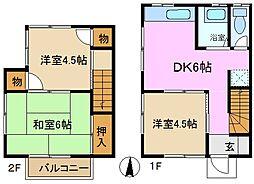 [テラスハウス] 神奈川県横浜市緑区鴨居6丁目 の賃貸【/】の間取り