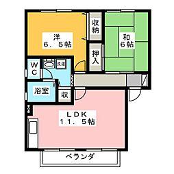 プラセール[2階]の間取り